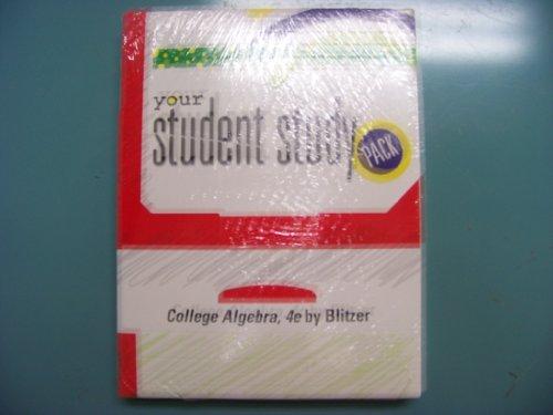 9780132267953: College Algebra Student Study Pack- STANDALONE