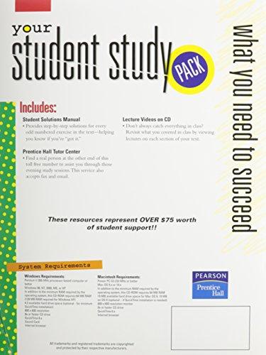 9780132267977: Student Study Pack - College Algebra