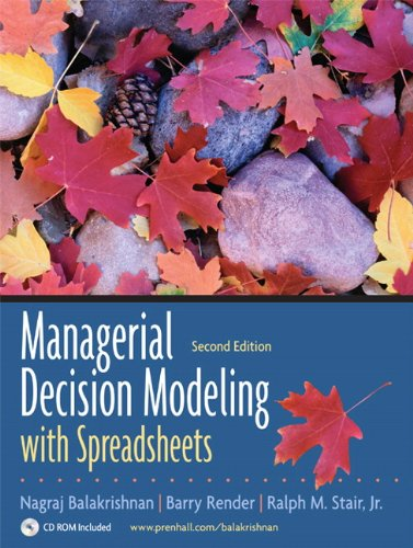 9780132268066: Managerial Decision Modeling with Spreadsheets and Student CD Package (2nd Edition)