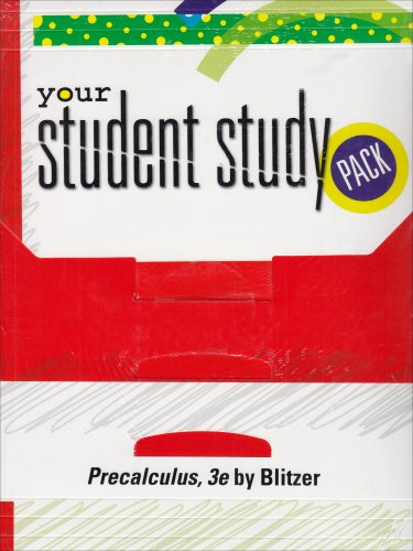 9780132268974: Blitzer Precalculus Student Study Pack+ 3RD Edition Soultions Manual/CD-ROM/ Tutor Center