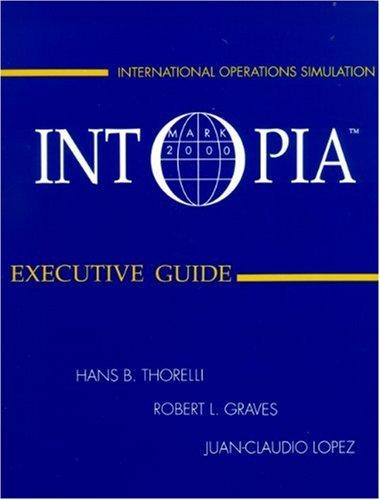INTOPIA: Executive Guide (Plus Formin Demo Disk): Hans B. Thorelli,