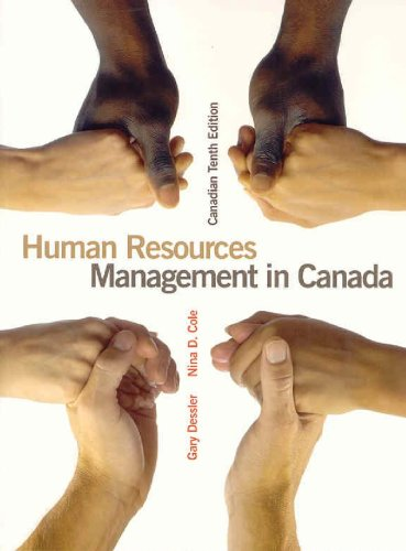 9780132270878: Human Resources Management in Canada