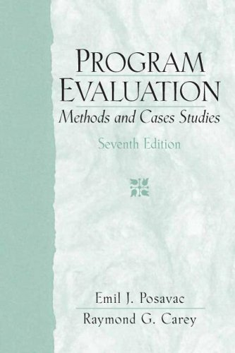9780132275606: Program Evaluation: Methods and Case Studies