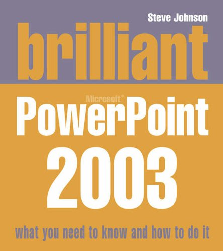9780132277136: Brilliant Powerpoint 2003
