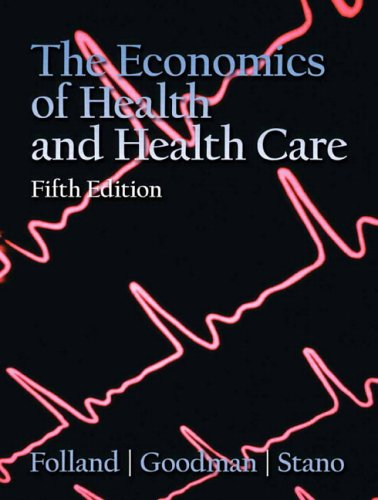 Economics Of Health And Health Care 9780132279420 This clear, step-by-step best-selling introduction to the economics of health and health care thoroughly develops and explains economic ideas and models to reflect the full spectrum of the most current health economics literature. This book uses core economic themes as basic as supply and demand, as venerable as technology or labor issues, and as modern as the economics of information. Chapter topics include health care, health capital, information, health insurance markets, managed care, nonprofit firms, hospitals, physicians and labor, the pharmaceutical industry, government intervention and regulation, and epidemiology and economics. Useful as a reference work for health service researchers, government specialists, and physicians and others in the health care field.