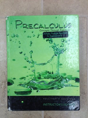 9780132280662: Precalculus Concepts Through Functions A Right Angle Approach to Trigonometry Instructor's Edition