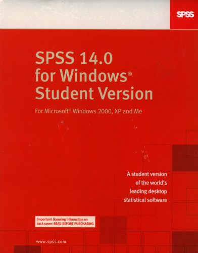 9780132283076: SPSS 14.0 Student Version for Windows