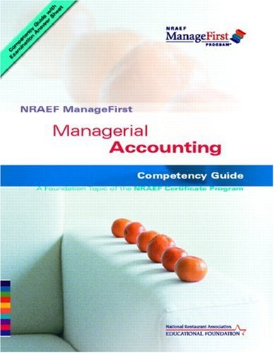 9780132283410: NRAEF ManageFirst: Managerial Accounting (NRAEF ManageFirst Program)