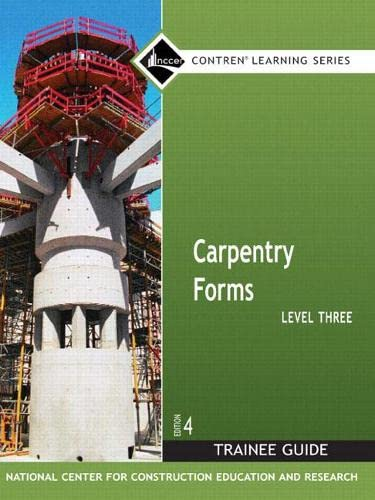 9780132286015: Carpentry Forms Level 3 Trainee Guide
