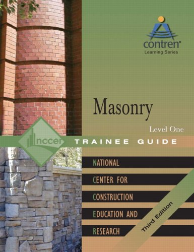 Masonry Level 1 Trainee Guide, Hardcover (3rd: NCCER