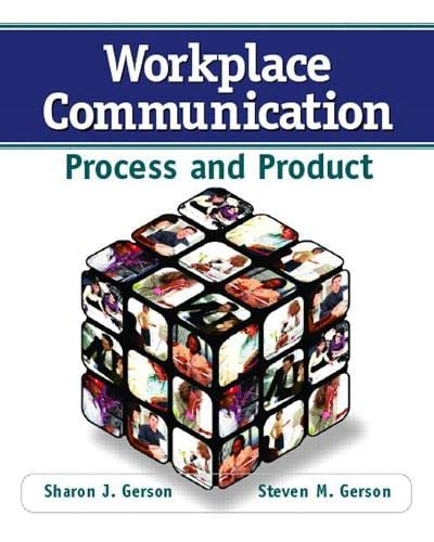 9780132288088: Workplace Communication: Process and Product