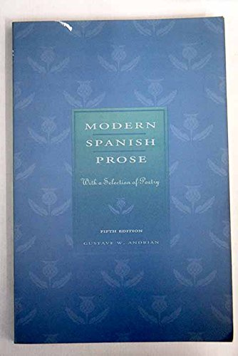 9780132288835: Modern Spanish Prose: With a Selection of Poetry