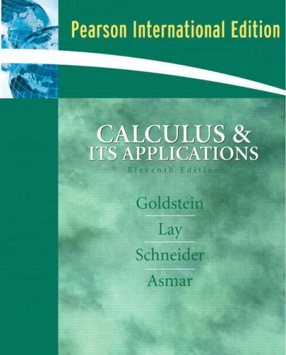 9780132293136: Calculus and its Applications: International Edition