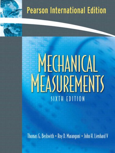 9780132296076: Mechanical Measurements