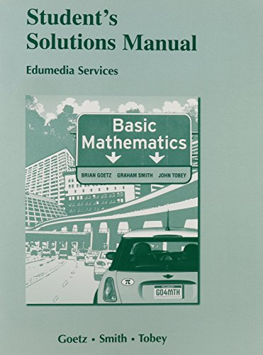 9780132296137: Student Solutions Manual for Basic Mathematics (Pearson Custom Mathematics)