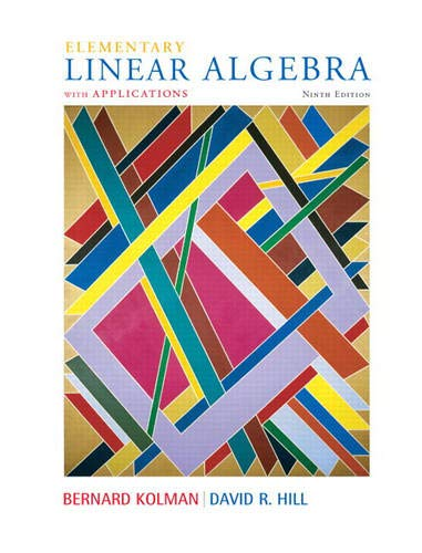 9780132296540: Elementary Linear Algebra with Applications (9th Edition)