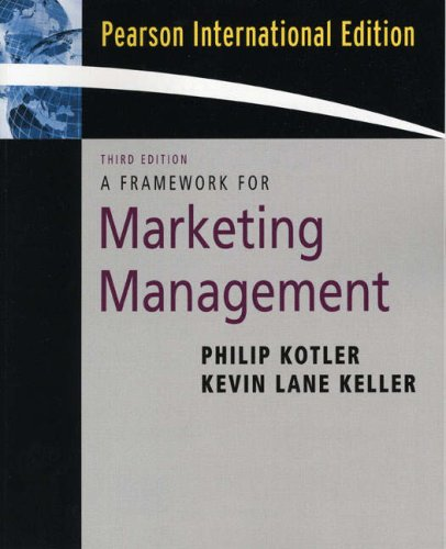 9780132301428: Framework for Marketing Management: International Edition