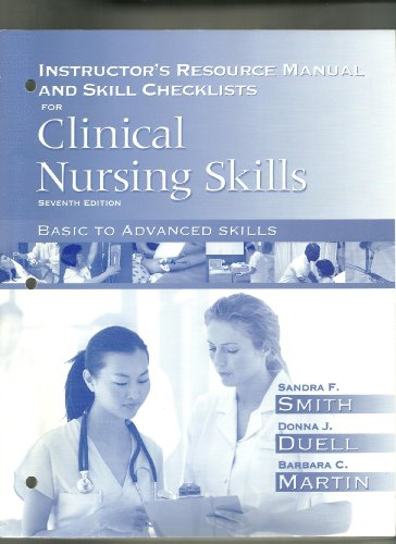 9780132303798: Instructor's Resource Manual and Skill Checklists for Clinical Nursing