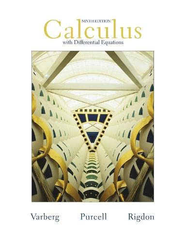 Calculus with Differential Equations (9th Edition): Dale Varberg, Edwin J. Purcell, Steve E. Rigdon