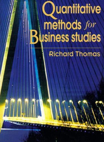 9780132311199: Quantitative Methods for Business Studies