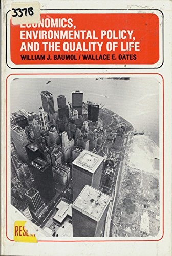 9780132313575: Economics, Environmental Policy, and the Quality of Life
