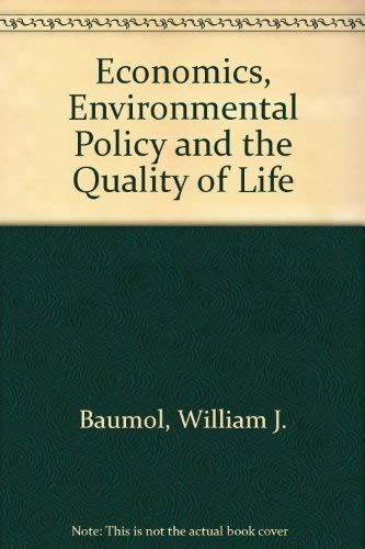 9780132313650: Economics, Environmental Policy and the Quality of Life