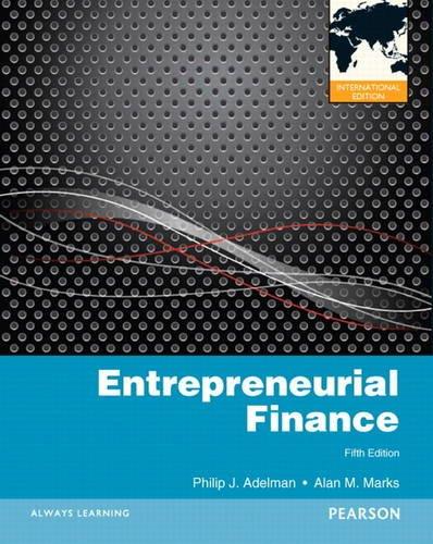 9780132316187: Entrepreneurial Finance