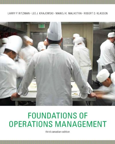 Foundations of Operations Management, Third Canadian Edition: Ritzman, Larry P.;