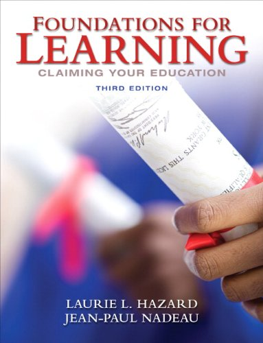 9780132318068: Foundations for Learning: Claiming Your Education (3rd Edition)