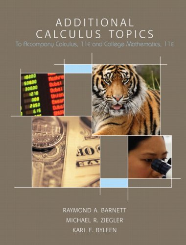 9780132318228: Additional Calculus Topics (11th Edition)