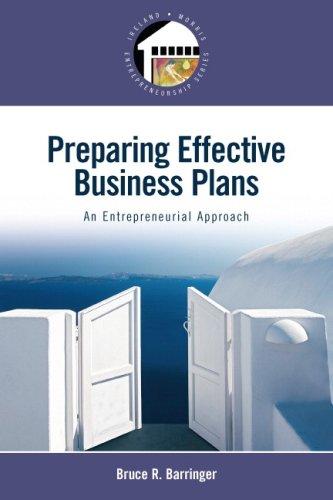 9780132318327: Preparing Effective Business Plans: An Entrepreneurial Approach