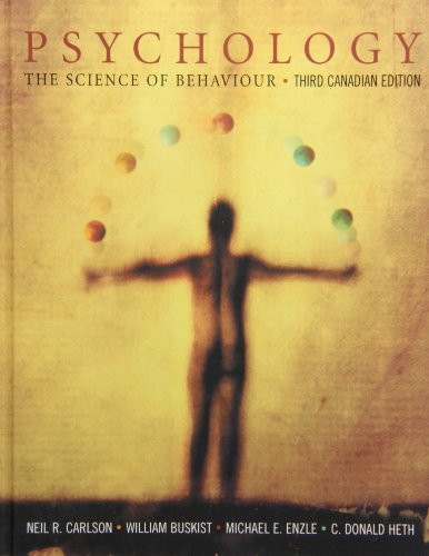 9780132318495: Psychology: The Science of Behaviour, Third Canadian Edition with HandsOnPsych CD-ROM and MyPsychLab access code with Study Guide PKG (Textbook Binding)