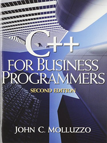 9780132319232: Microsoft's Visual C++ Version 6, Introductory Edition Software with C++ for Business Programmers (2nd Edition)