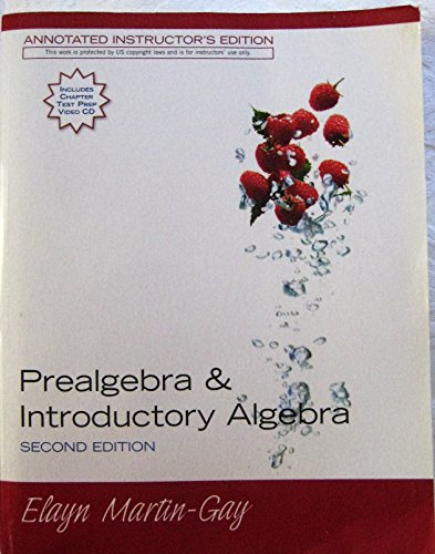 9780132319287: Prealgebra & Introductory Algebra : Second Edition: Annotated Instructor's Edition
