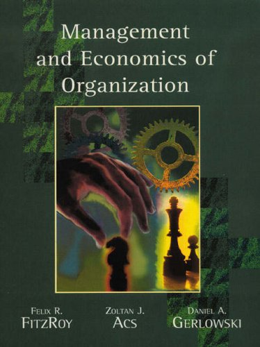 9780132319522: Management and Economics of Organisations