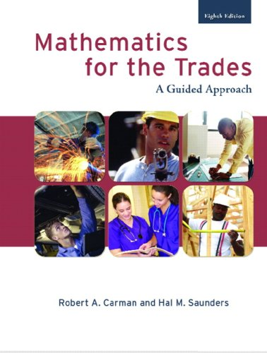 9780132321020: Mathematics for the Trades (8th Edition)