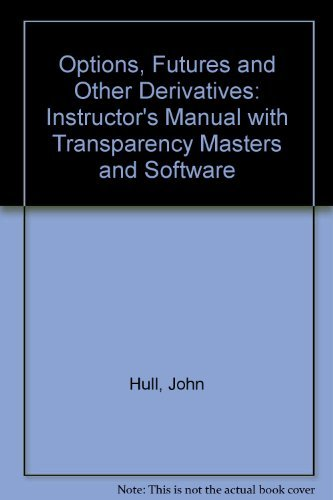 9780132321334: Options, Futures and Other Derivatives: Instructor's Manual with Transparency Masters and Software