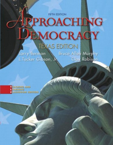 9780132321945: Approaching Democracy: Texas Edition (5th Edition)