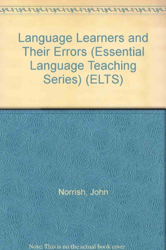 9780132322812: ELT: Language Learners and Their Errors