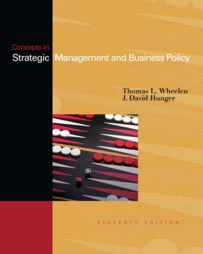 9780132323192: Concepts in Strategic Management and Business Policy, 11th Edition