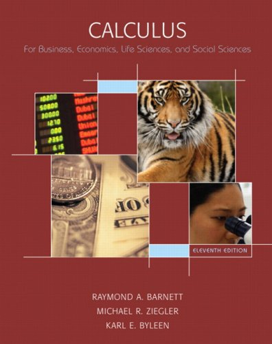 9780132328180: Calculus for Business, Economics, Life Sciences and Social Sciences (11th Edition)
