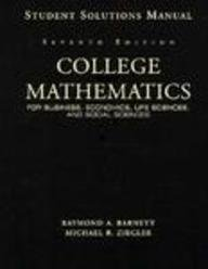 9780132328449: College Math for Business, Life Sciences & Social Sciences