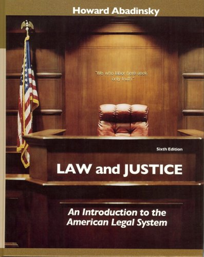 9780132328630: Law and Justice:An Introduction to the American Legal System