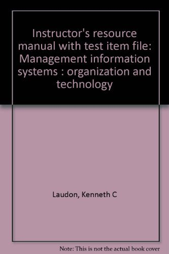 9780132328852: Management Information Systems: Organization and Technology