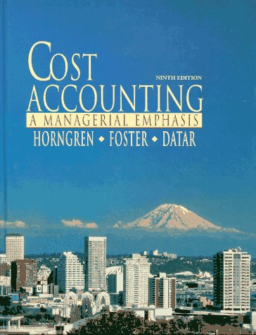 9780132329019: Cost Accounting: A Managerial Emphasis