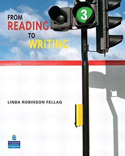 From Reading to Writing 3: Fellag, Linda Robinson