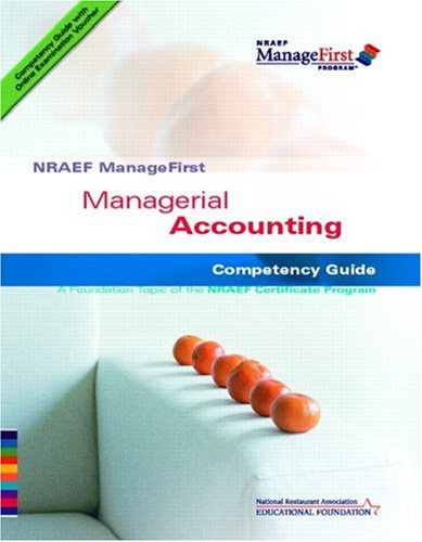 9780132331623: NRAEF ManageFirst: Managerial Accounting w/ On-line Testing Access Code Card