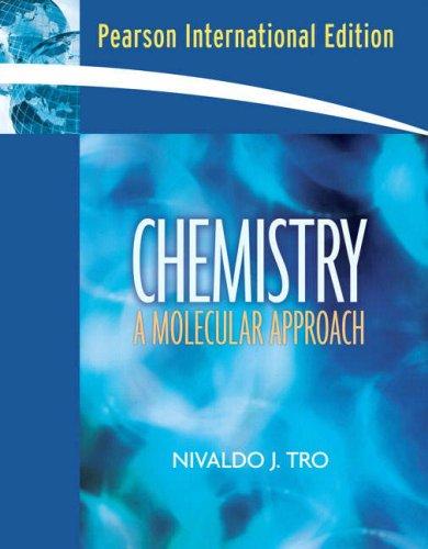 9780132332507: Chemistry: A Molecular Approach: International Edition