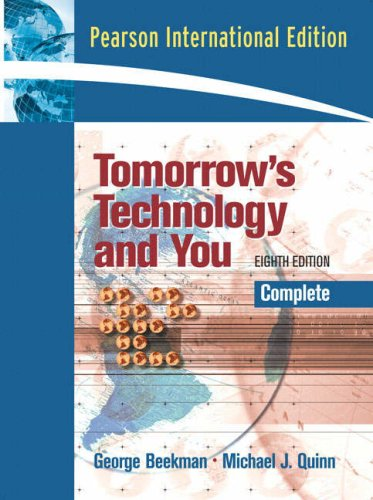 9780132335843: Tomorrow's Technology and You: Complete