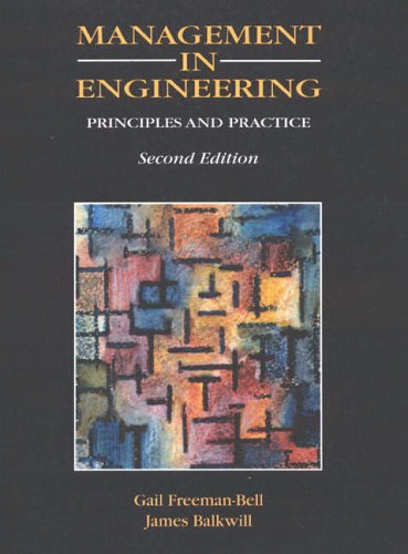 9780132339339: Management in Engineering: Principles and Practice